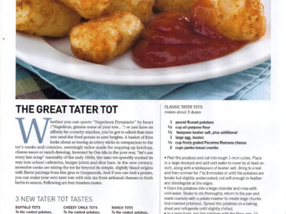 Make your own tater tots