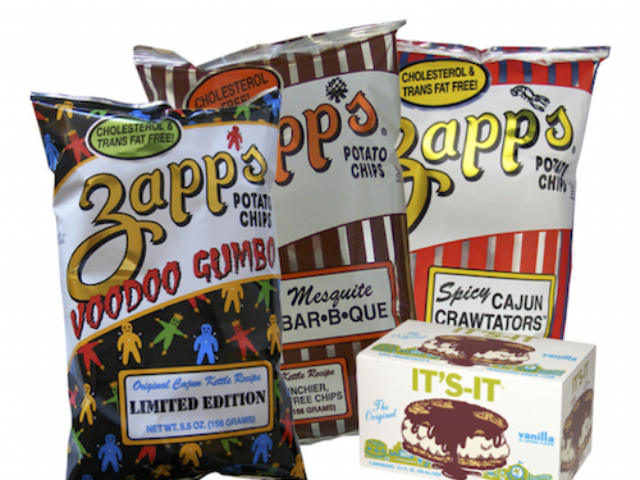 regional snacks across the U.S. - Zapps, It's-It, Tastykake