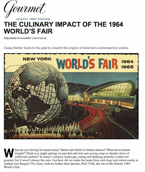Gourmet World's Fair