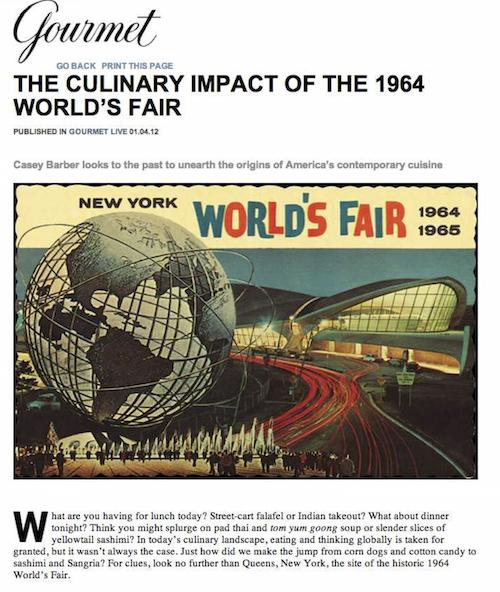 Gourmet World's Fair