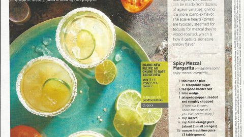 Allrecipes Magazine: Spicy Mezcal Margarita