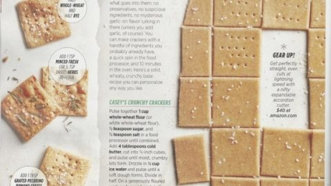 Allrecipes Magazine: DIY Crackers