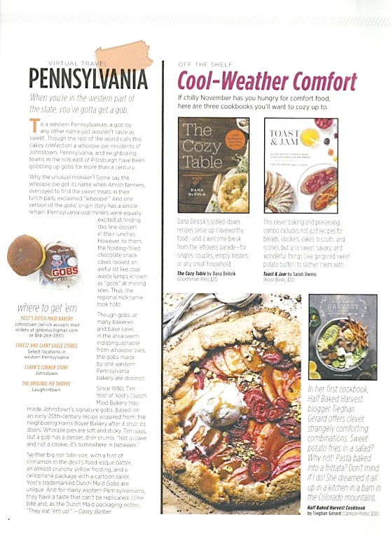 Allrecipes Magazine Gobs - November 2017