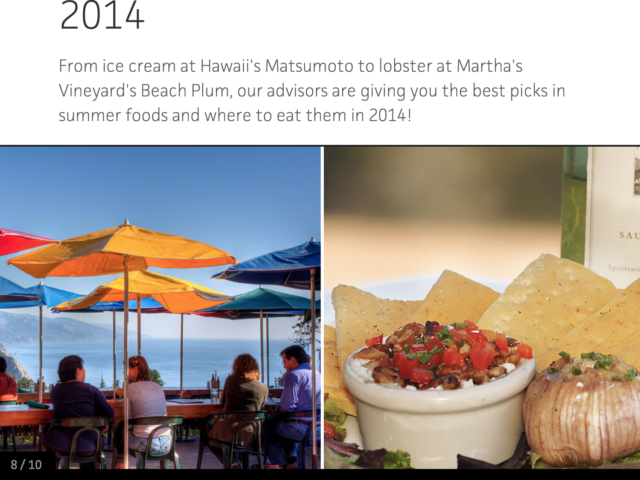 Travel Channel Best Summer Foods 2014