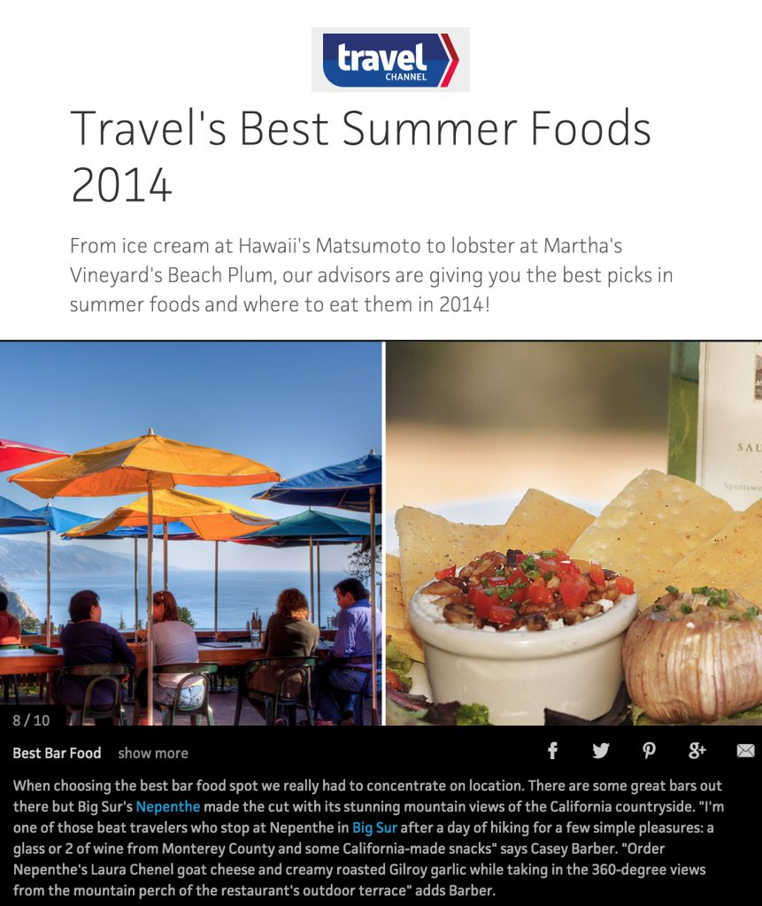 Travel Channel Best Summer Foods 2014