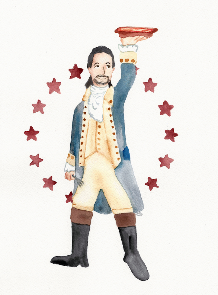 A Hamilton-Inspired Thanksgiving - Illustration for The Kitchn by Casey Barber/Good Food Stories LLC