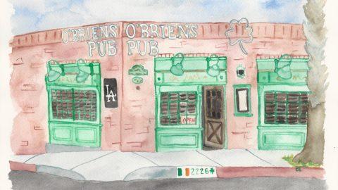 Illustration: O'Brien's Pub, Santa Monica
