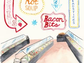 Ode to the Old-School Salad Bar - Illustration by Casey Barber/Good Food Stories LLC