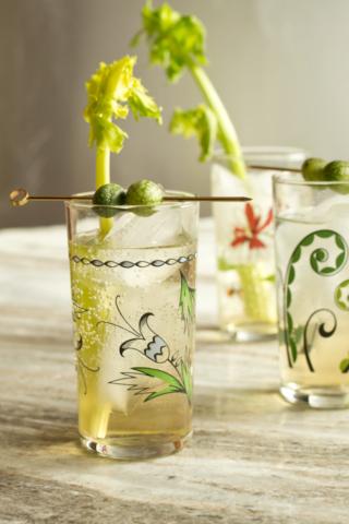 celery shrub cocktail