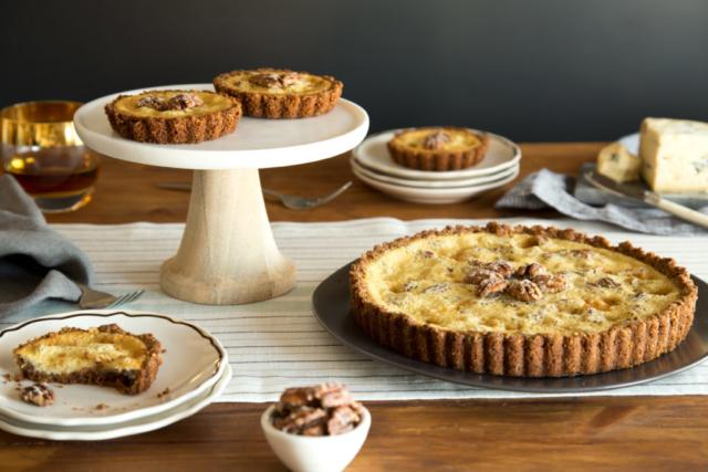 pecan maple blue cheese tarts