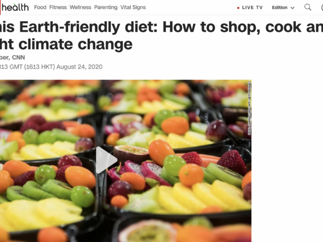 CNN Health Climate Change Diet story