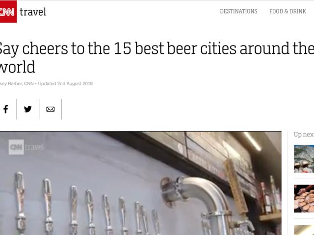 cnn travel, beer cities roundup
