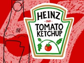 illustration of Heinz ketchup bottle elements