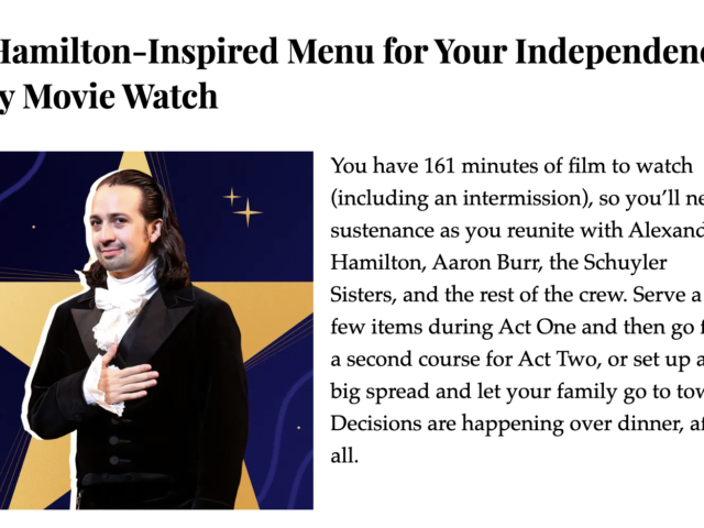 kitchn hamilton movie watch menu
