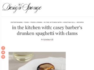 DesignSponge - drunken spaghetti with clams recipe