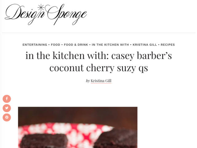 Design*Sponge - coconut cherry suzy qs recipe
