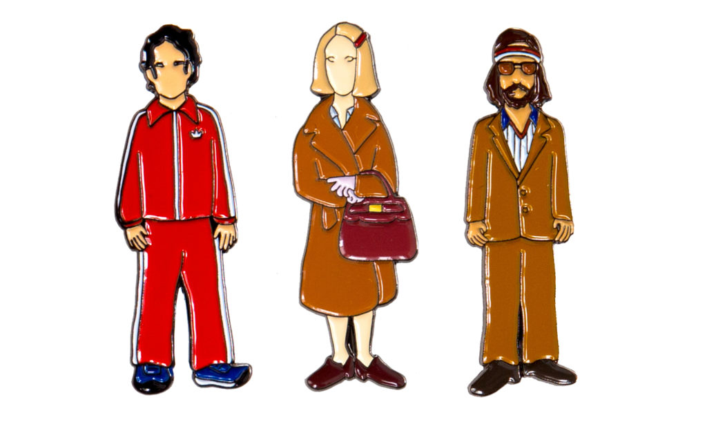 royal tenenbaums enamel pin set